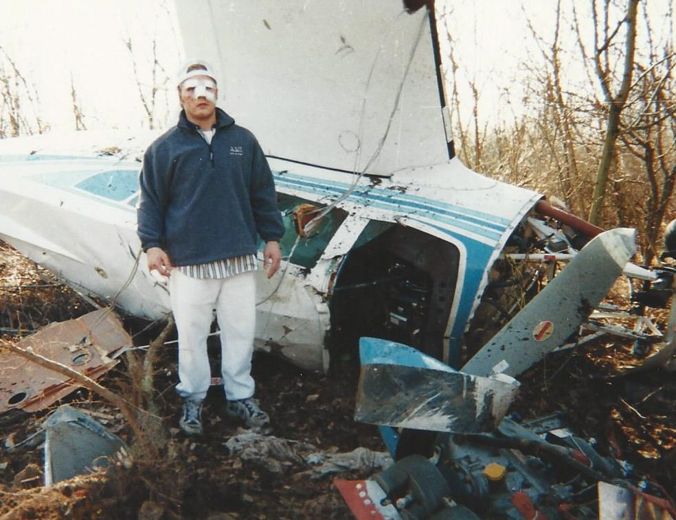 Dave Moore on his first plane crash